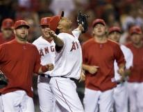 Francisco Rodriguez celebrates an Angels victory.jpg