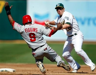 Chone Figgins tries to break up the double play.JPG