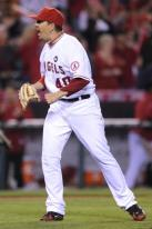 Brian Fuentes reacts after getting the save in the 2009 NLDS Game 2.JPG