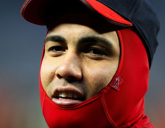 Kendry Morales face protected from the cold in New York.JPG