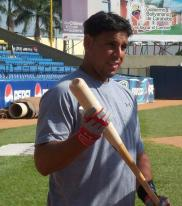 Juan Rivera holds a bat.jpg