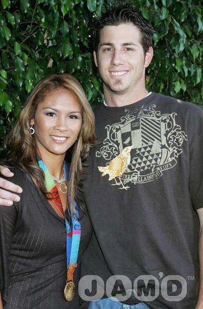 Jon Garland and Olympic gold medalist Lorieanne Jung.jpg